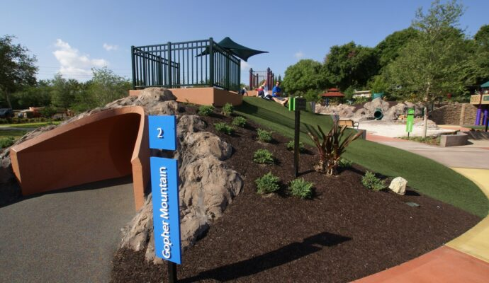 Pensacola Safety Surfacing-Bonded Rubber Mulch